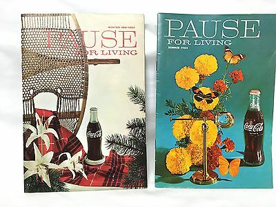 Pause for Living COCA-COLA Magazine- 2 Issues 1961/62 & 1964, Tips for Homemaker
