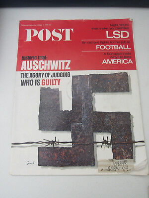 Saturday Evening Post October 1966 Historic Trial Auschwitz Nazi Holocaust LSD