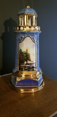 "Thomas Kinkade Ceramic Lighthouse ""Split Rock Light"""