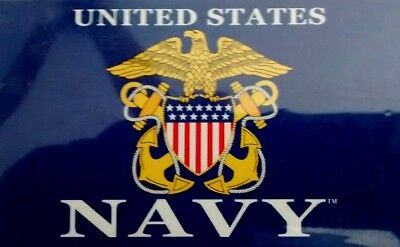 UNITED STATES NAVY 3' x 5' FLAG - AUTHORIZED OFFICIAL NEW LOGO and DESIGN
