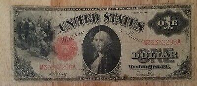1917 1 dollar legal tender large currency. F#38. Attractive old note.