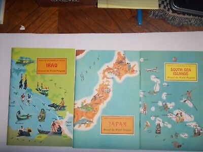 Around The World Program---by American Geographical Society--6 books
