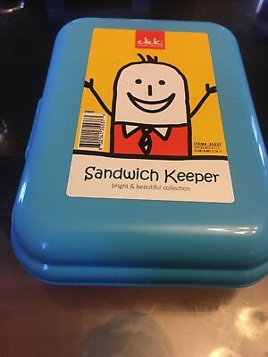TUPPERWARE New SANDWICH KEEPER Hinged LUNCH BPA FREE Free US Shipping