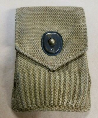 Mills US  WW1 1917 Canvas 30-06 Ammo Belt Pouch Antique Original Army