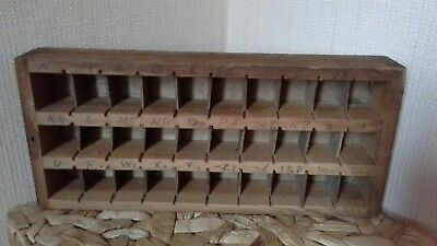 Vintage Wooden Printers Tray 31 cm by 14cm