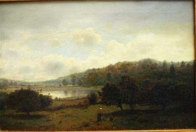 HENRY PEMBER SMITH 1854-1907 AMERICAN FULLY SIGNED Antique Oil Painting