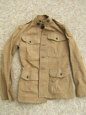M1911 Cotton Tunic With Us & Signal Corps Collar Disks 36Th Division Patch & Ser