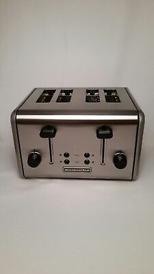 KitchenAid Four Slice Stainless Steel Toaster Dual Mode for warming and bagels