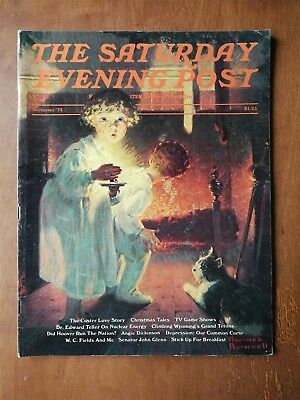 Saturday Evening Post December 1975 Norman Rockwell Christmas Cover Games Shows