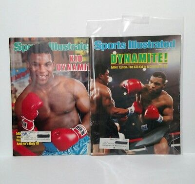 1986 Sports Illustrated Mike Tyson Magazine Lot Of 2