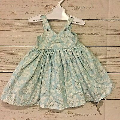"""Handmade Doll Dress Fits 18"""" American Girl Madame Alexander Baby Blue Sparkly"""