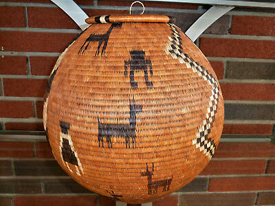 Outstanding, Large Botswana Pictorial Basket - Masterpiece Quality