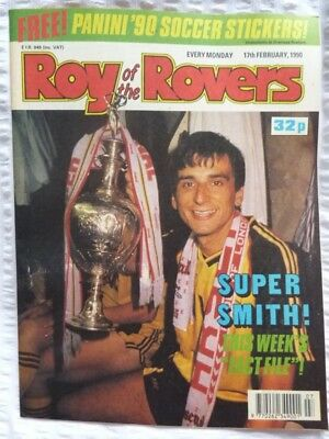 Roy of the Rovers Comic 17 02 1990 Exc