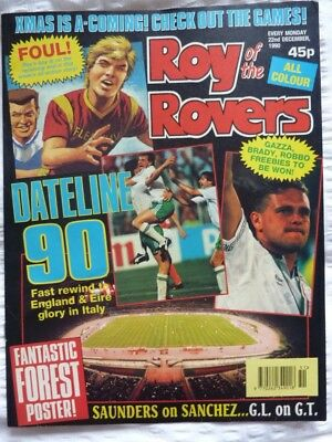 Roy of the Rovers Comic 22 12 1990 Exc Condition