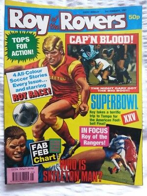 Roy of the Rovers Comic 02 02 1991 Exc Condition
