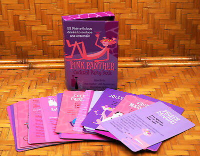 Shag Pink Panther Cocktail Party Deck 52 Drink Recipes Illustrations New