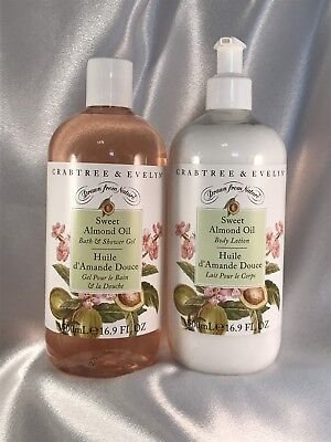 Crabtree & Evelyn 'Sweet Almond Oil' Body Lotion & Shower Gel Duo