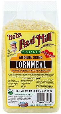 Bob's Red Mill Organic Cornmeal Medium - 24 oz.