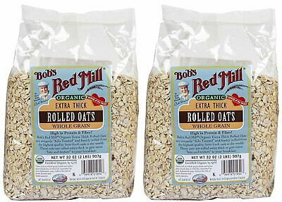 Bob's Red Mill Organic Oats Rolled Thick - 32 oz - 2 pk