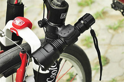 360 Swivel Cycling Bicycle Bike LED Front Head Light Lamp Mount Holder Clip New