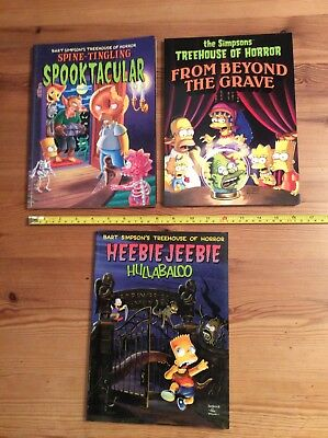 The Simpsons Treehouse of Horror books good/vgc