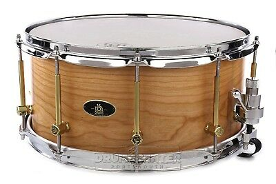 RBH Prestige Solid Cherry Snare Drum 14x6.5 w/ Engraved Lugs - VIDEO DEMO
