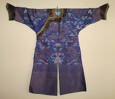 Fine Antique Chinese Silk Dragon Robe Qing Period Guangxu  Excellent Cond.