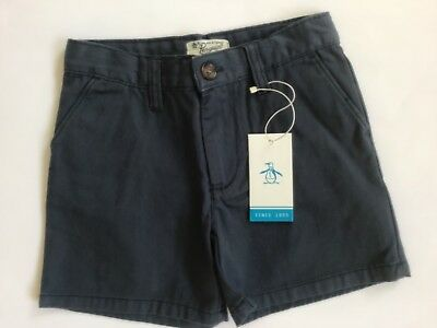 Boys Penguin Navy Blue Tailored Shorts Size 4-5 Years Junior BNWT