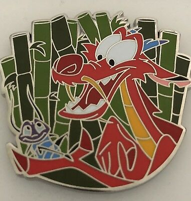 Walt Disney Mushu And Cri-Kee Collectors Trading Pin NEW On Card From Mulan 2018