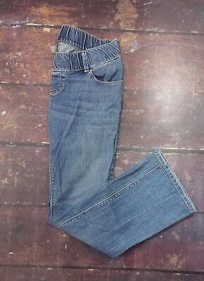 Size 8 Old Navy Maternity Jeans with a half belly panel