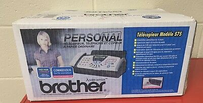BROTHER FAX-575 Personal Plain Paper Fax, Phone & copier NEW IN BOX