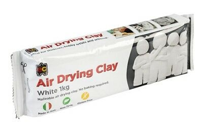 1kg White - Air Drying Clay - Modelling clay. Pottery, MADE IN ITALY
