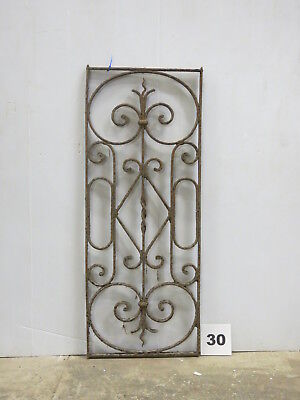 Antique Egyptian Architectural Wrought Iron Panel Grate (E-30)