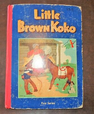 Old Vintage Little Brown Koko Book 1St Series Dated 1953 Blanche Seale Hunt Blue