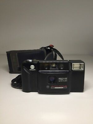 Minolta AF-E 35mm Film Point & Shoot Camera Vintage
