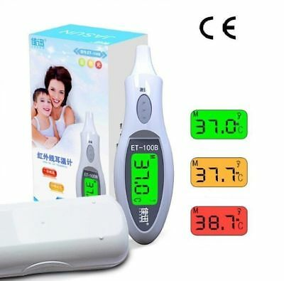 Pro LCD Digital IR Infrared Ear Thermometer Baby Forehead Body Temperature Meter