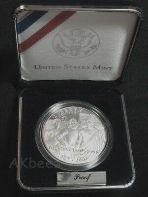 2007 Jamestown 400th Anniversary Proof Silver Dollar Commemorative FREE SHIPPING