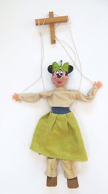 Disney Minnie Mouse Marionette tring Puppet Vintage Possib. Handmade by Artist