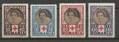 Romania - Red Cross Relief Fund - MNH Set of 4