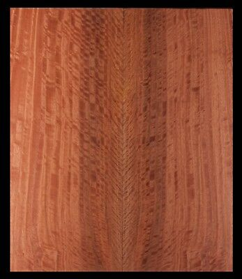 Curly Eucalyptus Bookmatch Thin Lumber Luthier Wood Guitar Top #2224