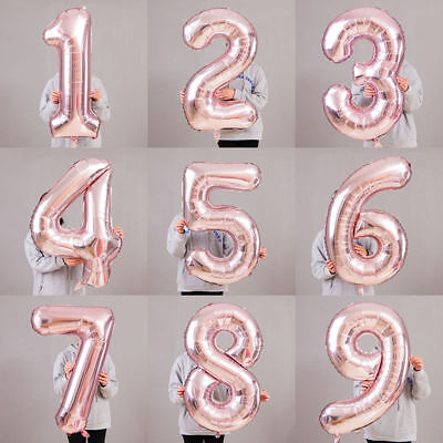 """32''/40"""" Number Shape Helium Foil Ballons Wedding Party Balloons Birthday Decors"""