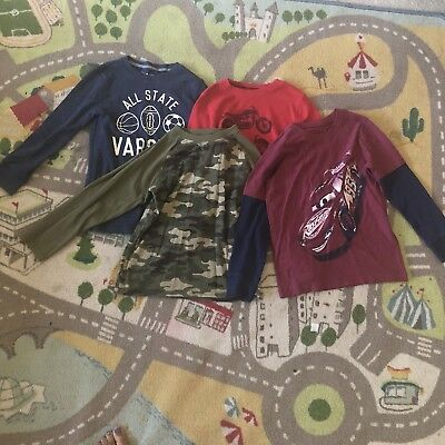 Lot of 5 Boys Long Sleeve Shirts Size 6-7