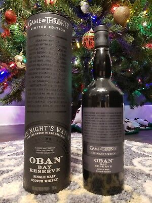 Game Of Thrones The Night's Watch Oban Bay Reserve Scotch Whiskey