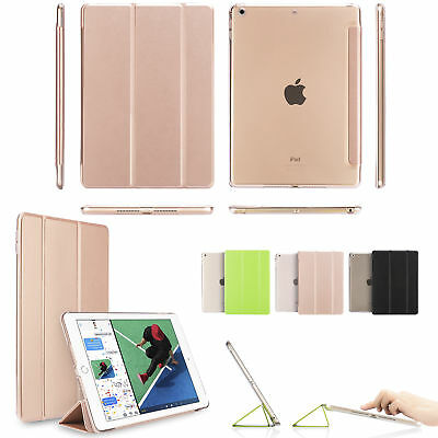 iPad 6th Generation 2018 9.7 Slim Magnetic Leather Smart Cover Case For Apple