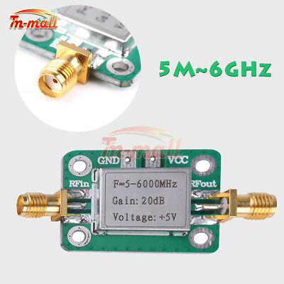 5M~6GHz RF Broadband Signal Amplifier Power Amplifier Gain 20dB VFH UHF SHF