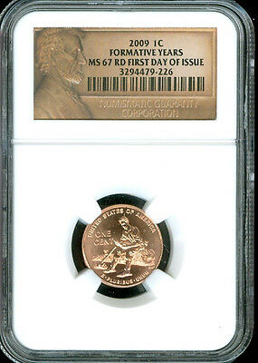 2009 Lincoln Cent Formative Years Ngc Ms67 Red First Day Of Issue