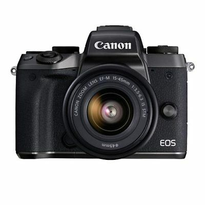 Canon EOS M5 EF-M 15-45mm f/3.5-6.3 IS STM Black (Multi) From EU Mejor