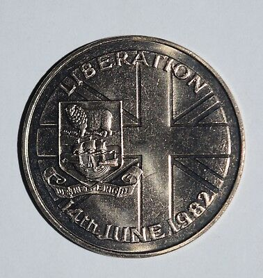 1982 Unc Falkland Islands Liberation 50P Fifty Pence