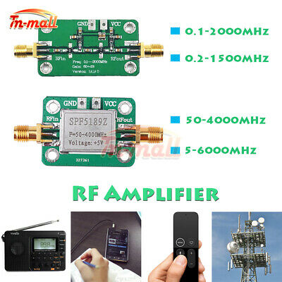 0.1-6000MHz RF Amplifier Module LNA Board Broadband Signal Receiver Low Noise