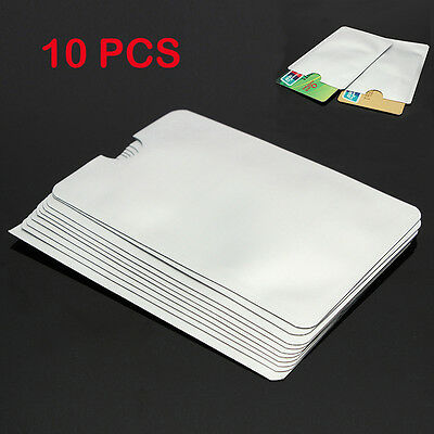 10Pcs RFID Secure Sleeves Credit Card Holder Blocking Protector Cases Shield Hot